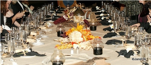 Decor on the Western Themed Table