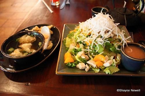 Wonton Soup and Mandarin Chicken Salad