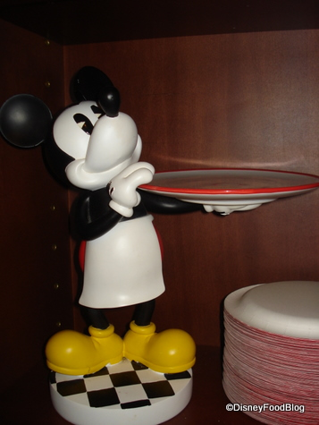 Mickey Waits Eagerly For Your Order