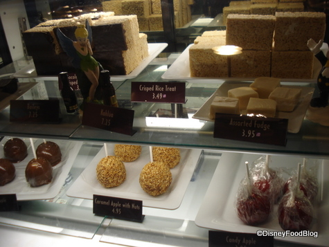 Fudge, Rice Krispie Treats, and Caramel Apples