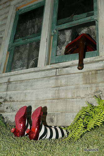 Ruby Slippers on Wicked Witch of the East