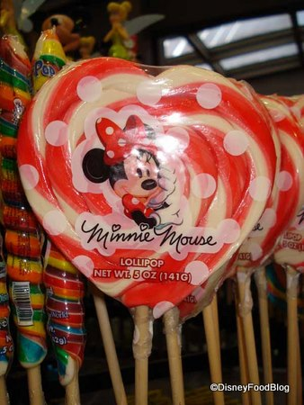 Minnie's Heart Shaped Lollipops