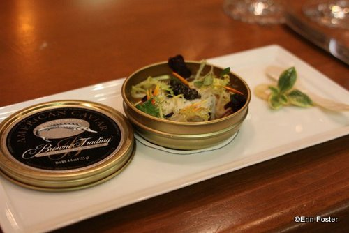 Peekytoe crab cake with Ostera caviar and petit herbs