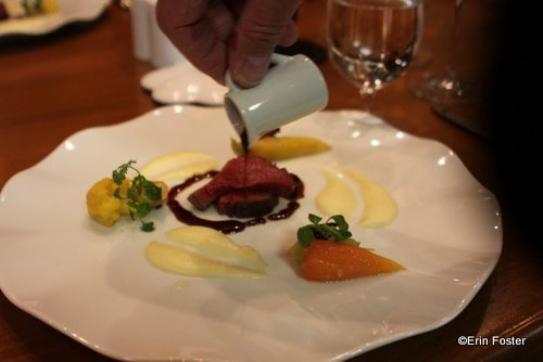 Australian Wagyu beef tenderloin with oxtail jus