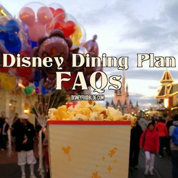Disney Dining Plan Frequently Asked Questions