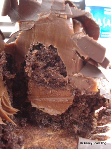 Disney chocolate peanut butter cupcake cross section
