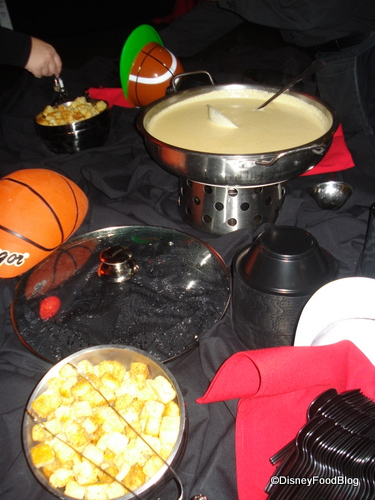 Cheesehead Soup and Beer Croutons