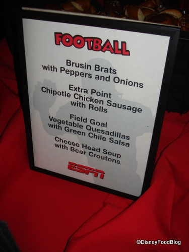 Football Themed Food at Media Event