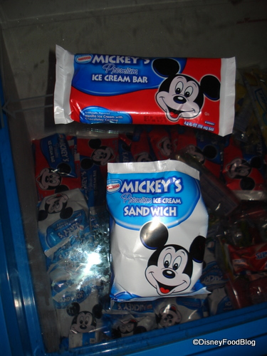 Mickey Bar and Sandwich