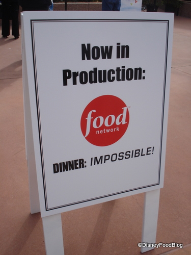 Dinner:Impossible Production Sign