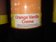 Orange Vanilla Cream Sour Powder Candy