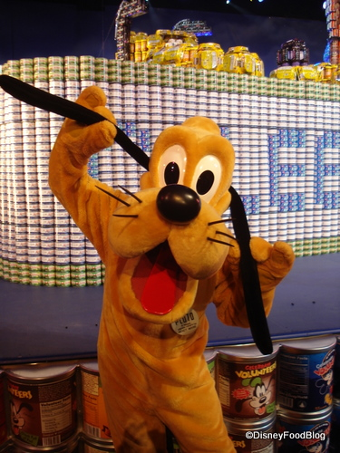 Disney's Pluto with Canned Goods Pluto