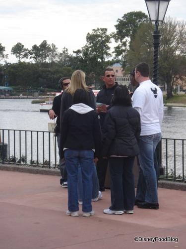 Chef Irvine Plots With His Volunteers