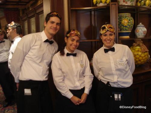 Servers in Their Carnevale Masks