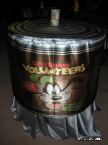 Epcot Dinner Impossible Canned Goods Theme