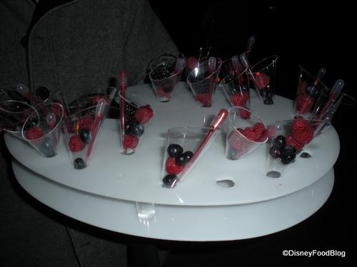 Berries with Vodka Sauce Stick