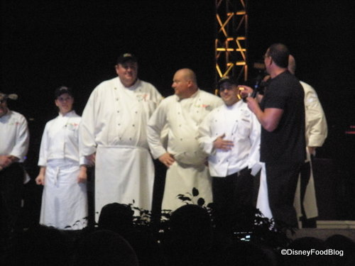 Chef Irvine Thanks his Dinner:Impossible Sous Chefs at the Event
