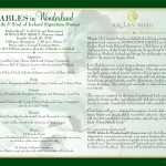 Tables in Wonderland March Dining Events
