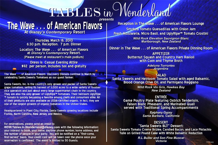 Tables in Wonderland March Wave Event
