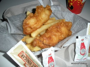 Fish and Chips from Epcot's Yorkshire County Fish Shop