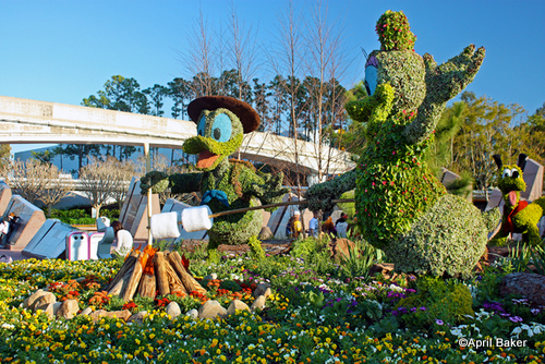 Epcot Flower and Garden Festival Campfire Topiary