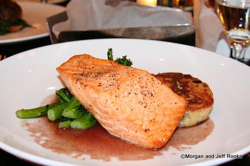 Cedar Plank Roasted Pacific King Salmon