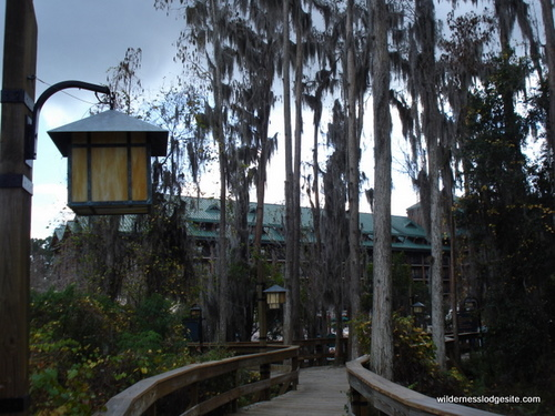Wilderness Lodge Walkway From Dock