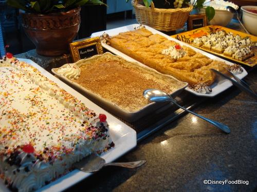 Cake, Tiramisu, Baklava, and Cheesecake