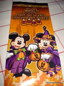 Mickey's Not So Scary Halloween Party brochure