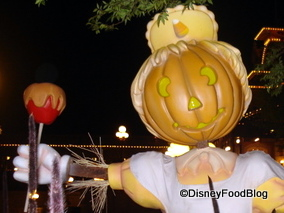 Disney Halloween Decor...Featuring Caramel Apples