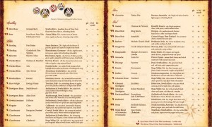 Sanaa Wine List -- Subject to Change -- Copyright Disney -- Click for Larger Version