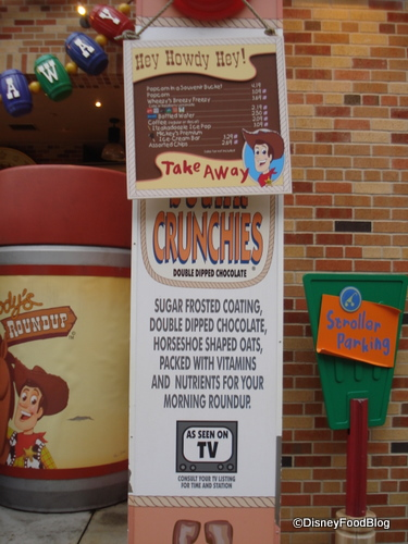 Side of Cowboy Crunchis Box