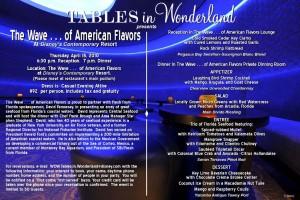 Tables in Wonderland The Wave April 2010