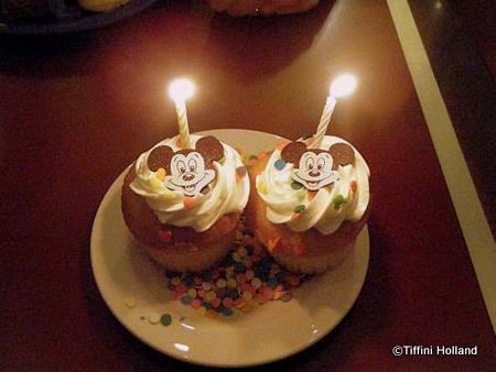 Chef Mickey Honeymoon Cupcakes