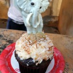 White Chocolate Elephant Cupcake