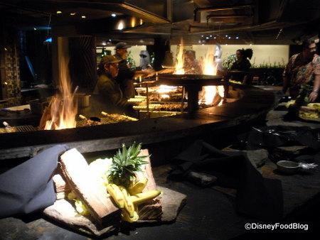 'Ohana Fire Pit - Dinner At 'Ohana The Disney Food Blog