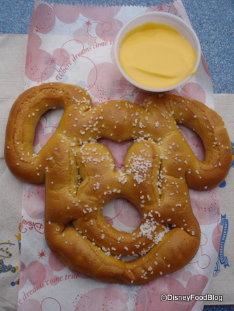 Mickey Pretzel with Plastic Cheese