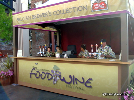 Brewers Collection Booth at 2010 DCA Food and Wine Festival