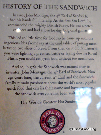 Lunch With the Earl of Sandwich | the disney food blog