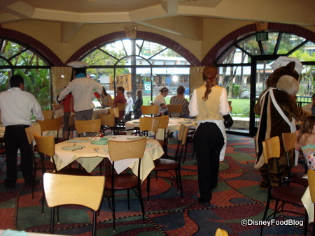 One Room of Goofy's Kitchen Restaurant