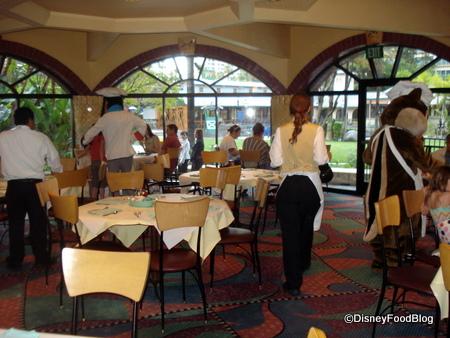 One Room of Goofy's Kitchen Restaurant
