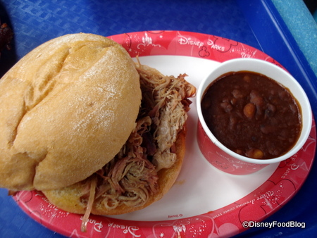 Pulled Pork Sandwich at Flame Tree
