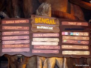Bengal Barbecue Menu -- Click for Larger Image