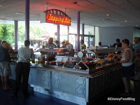 Cosmic Ray's Toppings Bar