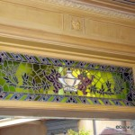 Stained Glass Window Above Blue Bayou Door