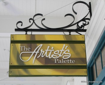 Disney Saratoga Springs Resort Artists Palette outdoor sign 1