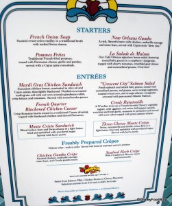 Cafe Orleans Menu -- Click for Larger Size