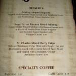 Cafe orleans dessert menu