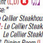Le Cellier Dinner Will Require 2 Dining Plan Credits Beginning March 2011