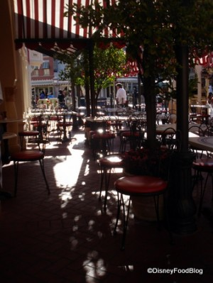Carnation cafe view of street